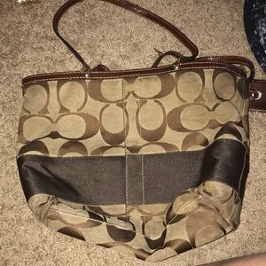 Slightly worn coach purse